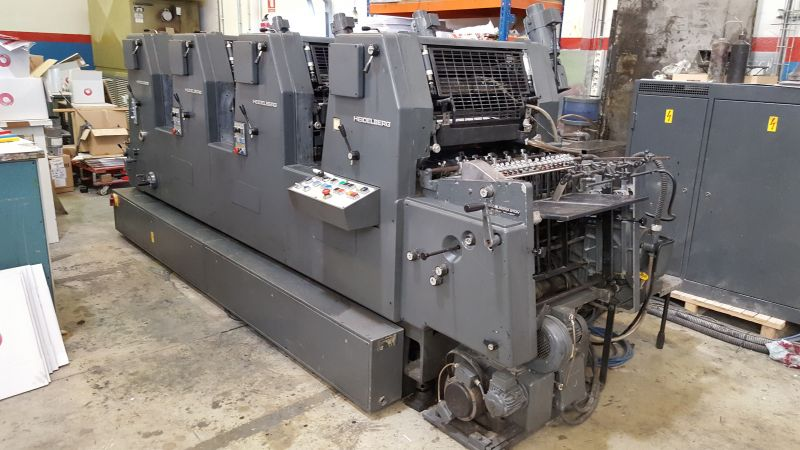 Image of Used Heidelberg GTOV 52 Four Colour Printing Press For Sale