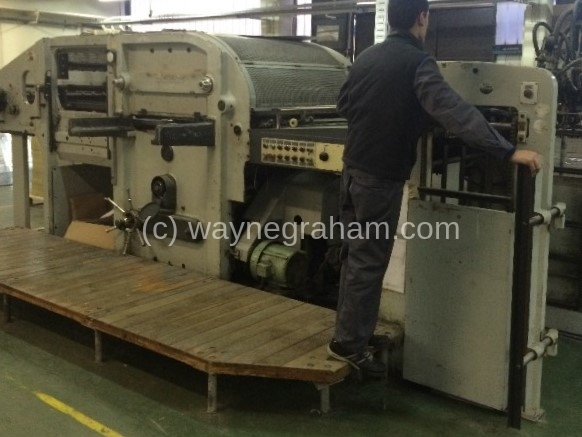 Image of Used Bobst SP 1080-E Die Cutter With Stripping Unit For Sale