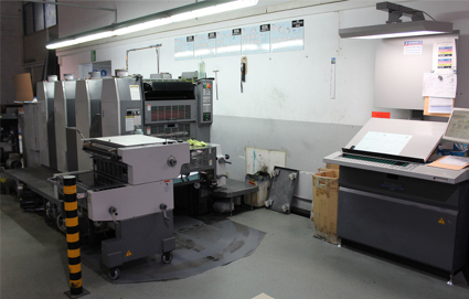 Image of Used Ryobi 524 GX Four Colour Printing Press With Numbering And Perforating Unit For Sale