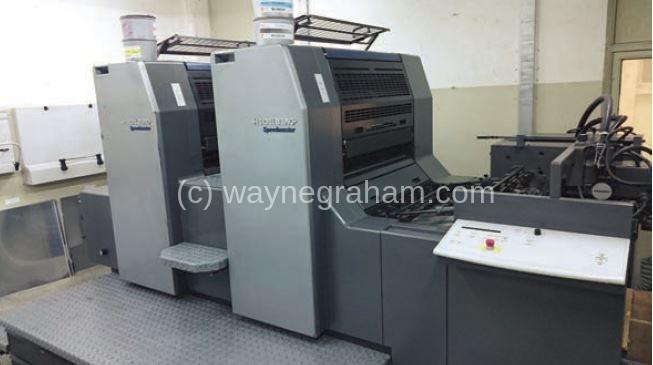 Image of Used Heidelberg Speedmaster 74-2 Two Colour Printing Press