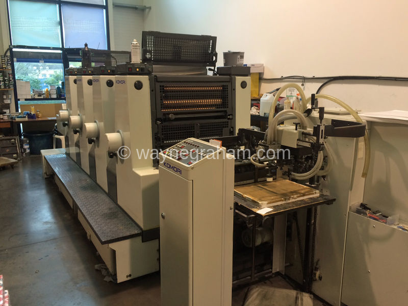 Image of Used Komori L-420 Four Colour Printing Press For Sale