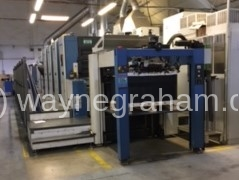 Image of Used KBA Rapida 105-5+L CX Five Colour Printing Press With Coating Unit And Interdeck UV Drying For Sale