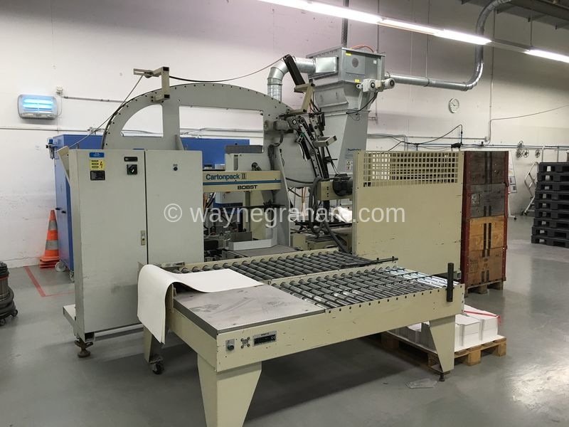 Image of Used Bobst Cartonpack II Fully Automated Packing Station For Sale