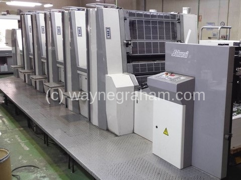 Image of Used Sakurai Oliver 575 SD Five Colour Printing Press