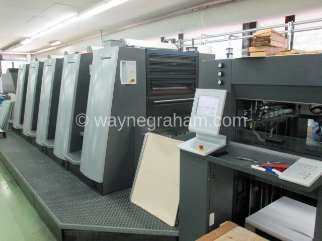 Image of Used Heidelberg SM XL 75-5 Five Colour Printing Press With LE UV Drying For Sale