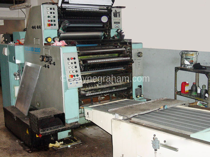 Image of Used Roland 202 TOB Two Colour Printing Press Converted For In Mould Labels For Sale