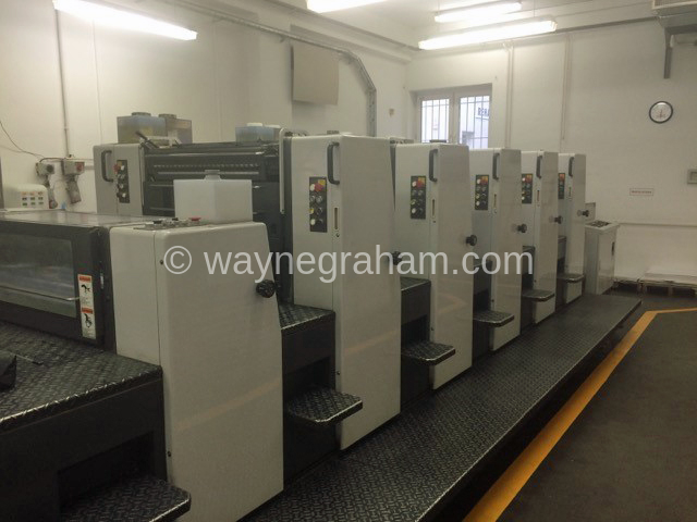 Image of Used Shinohara 74 V+L Five Colour Printing Press With Coating Unit For Sale