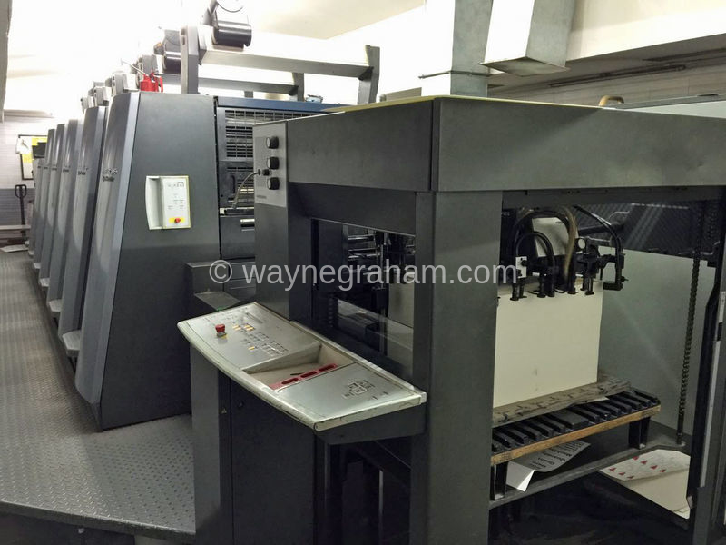 Image of Used Heidelberg SM CD 74-5-LX Five Colour Printing Press With Coating Unit For Sale