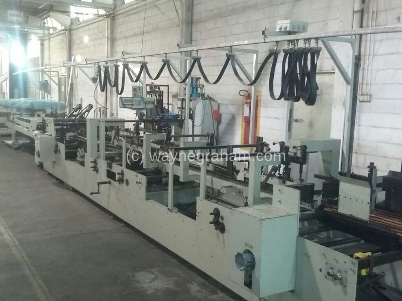 Image of Used Bobst Domino 93 Folding Carton Gluer For Sale