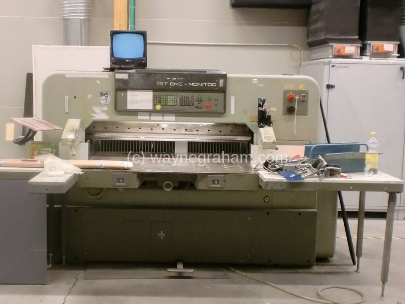 Image of Used Polar 137 EMC-MON Guillotine For Sale