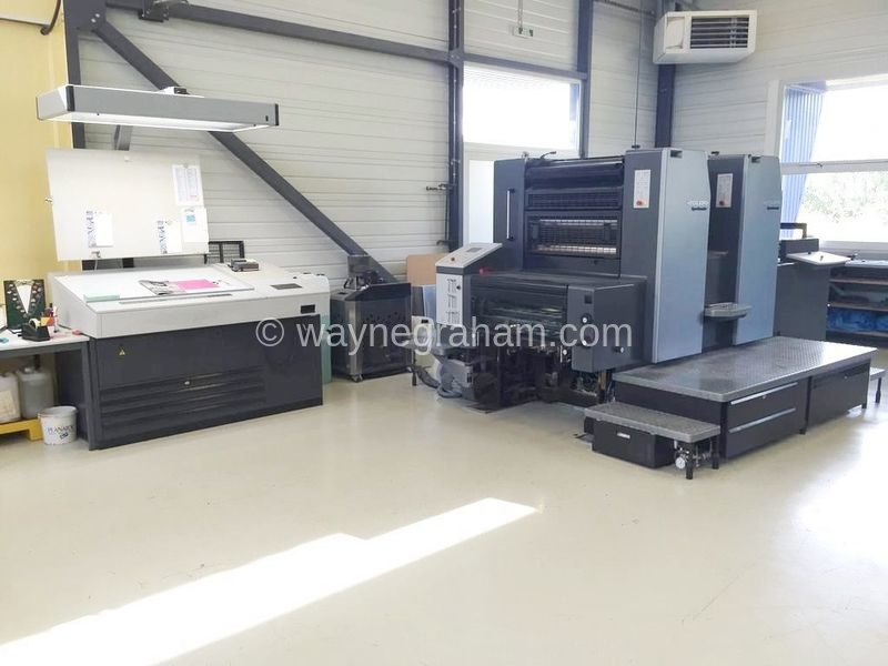 Image of Used Heidelberg Speedmaster 74-2 Two Colour Printing Press For Sale