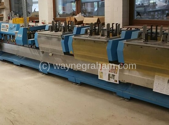 Image of Used Muller Martini Presto 1550 Gatherer Stitcher Trimmer For Sale