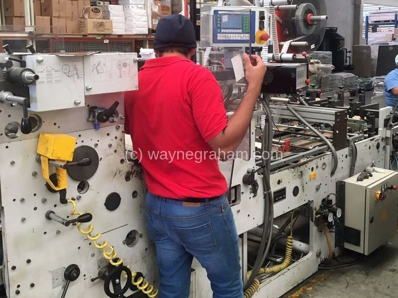 Image of Used Heiber + Schroder Window Patching Machine For Sale
