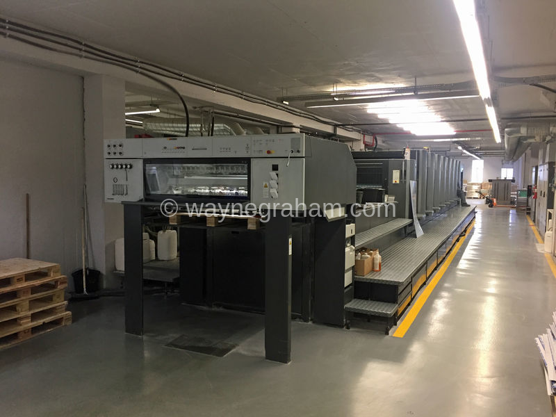 Image of Used Heidelberg Speedmaster 102-8-P-LX Eight Colour Printing Press With Coating Unit For Sale