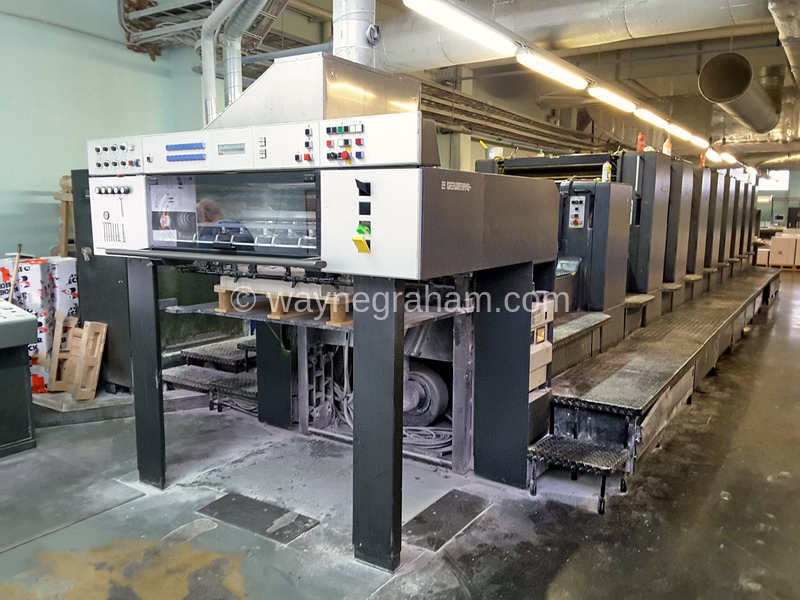 Image of Used Heidelberg Speedmaster 102-8-P-L Eight Colour Printing Press With Coating Unit For Sale