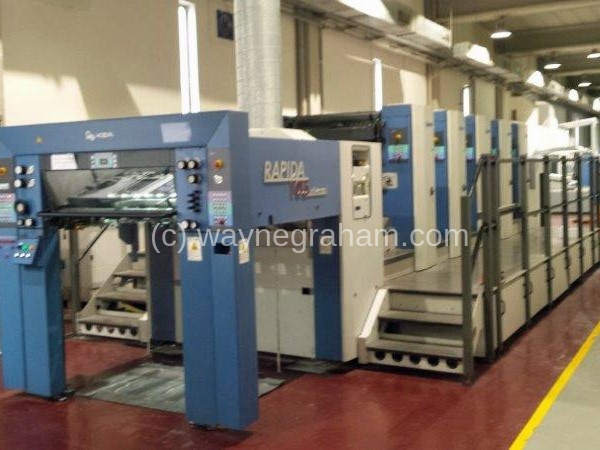 Image of Used KBA Rapida 105U-5 Five Colour Printing Press