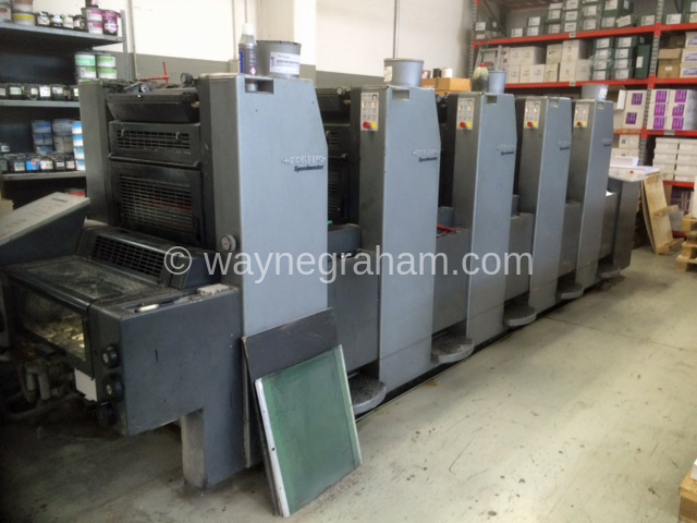 Image of Used Heidelberg Speedmaster 52-5 Five Colour Printing Press For Sale