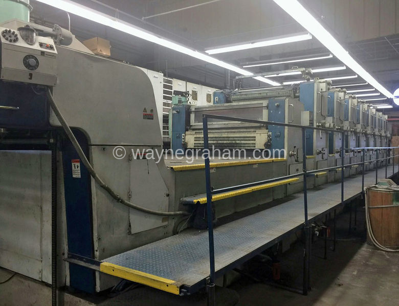 Image of Used KBA Rapida 142-7+L Seven Colour Printing Press With Coating Unit And Interdeck UV Drying For Sale