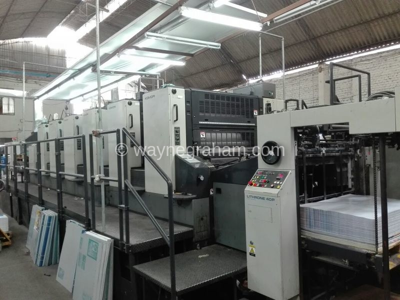 Image of Used Komori Lithrone 640+C Six Colour Printing Press With Coating Unit For Sale
