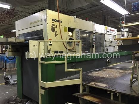 Image of Used Bobst SP 102-CER II Die Cutter With Stripping And Blanking Units For Sale