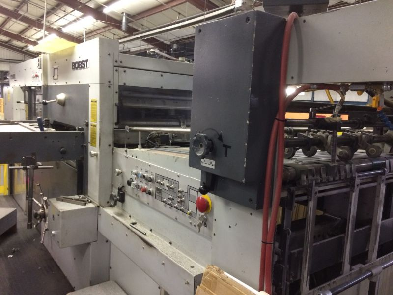 Image of Used Bobst SP 102-E Die Cutter With Stripping Unit For Sale