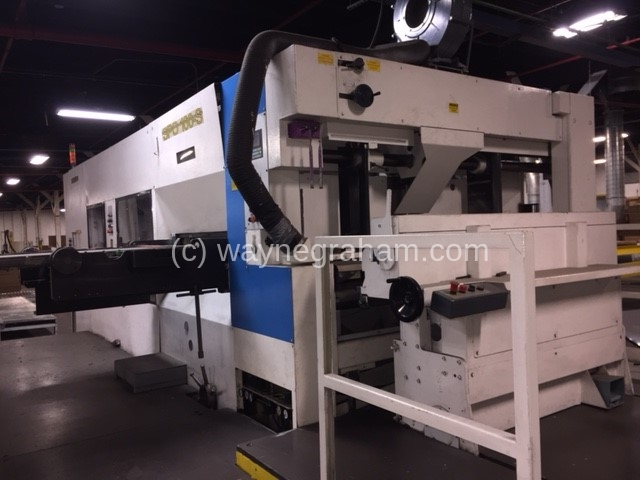Image of Used Bobst SPO 160-S Corrugated Die Cutter With Stripping Unit For Sale