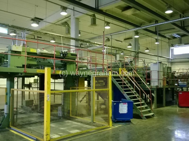 Image of Used Valmet-Strecker Synchro 1600 Sheeter For Sale