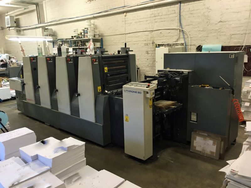 Image of Used Komori Lithrone 420 Four Colour Printing Press For Sale