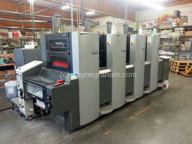 Image of Used Heidelberg Speedmaster 52-4 Four Colour Anicolor Printing Press