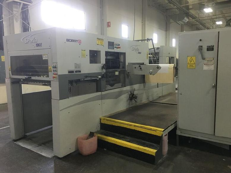 Image of Used Bobst SPeria 106-E Die Cutter With Stripping Unit For Sale