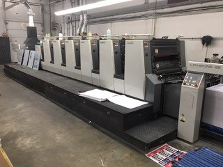 Image of Used Komori Lithrone 628+C Six Colour Printing Press With Coating Unit For Sale