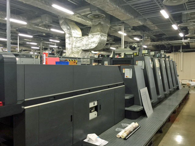 Image of Used Heidelberg Speedmaster CD 74-6-LX Six Colour Printing Press With Coating Unit And Interdeck UV Drying For Sale