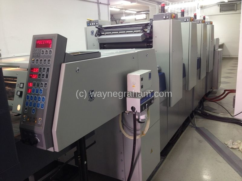 Image of Used Adast Dominant 547A Four Colour Printing Press For Sale