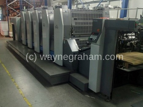 Image of Used Ryobi 925 Five Colour Printing Press For Sale