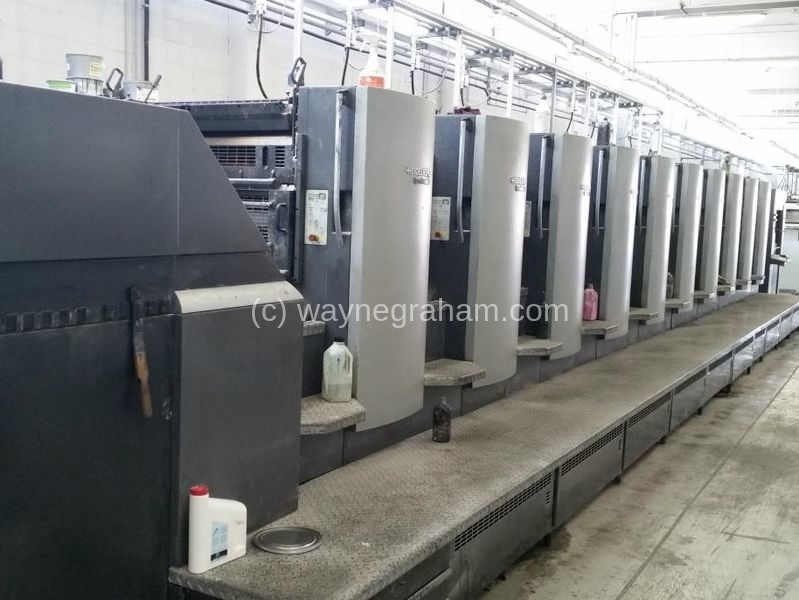 Image of Used Heidelberg Speedmaster 102-10-P Ten Colour Printing Press For Sale