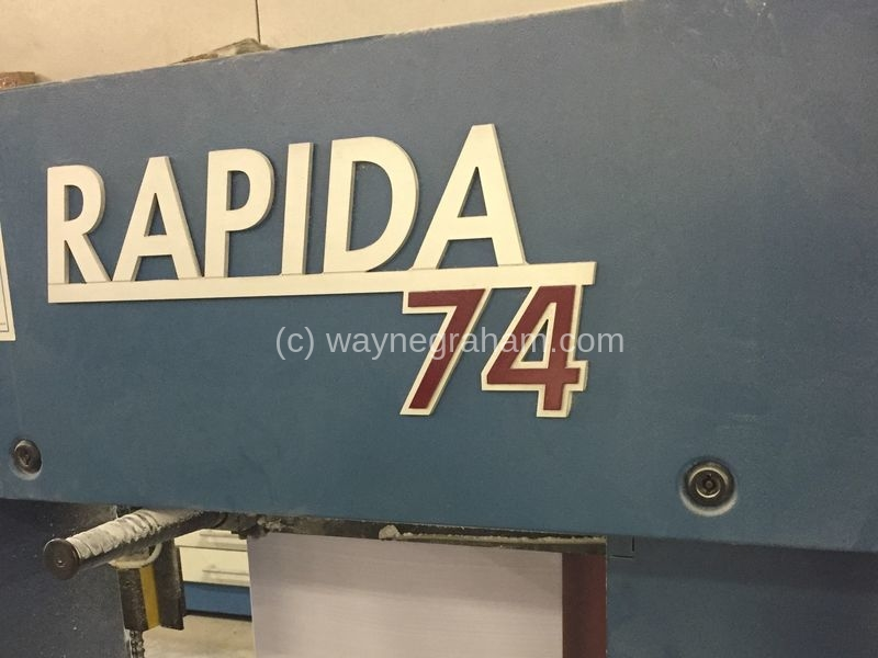 Image of Used KBA Rapida 74-8 Eight Colour Printing Press For Sale