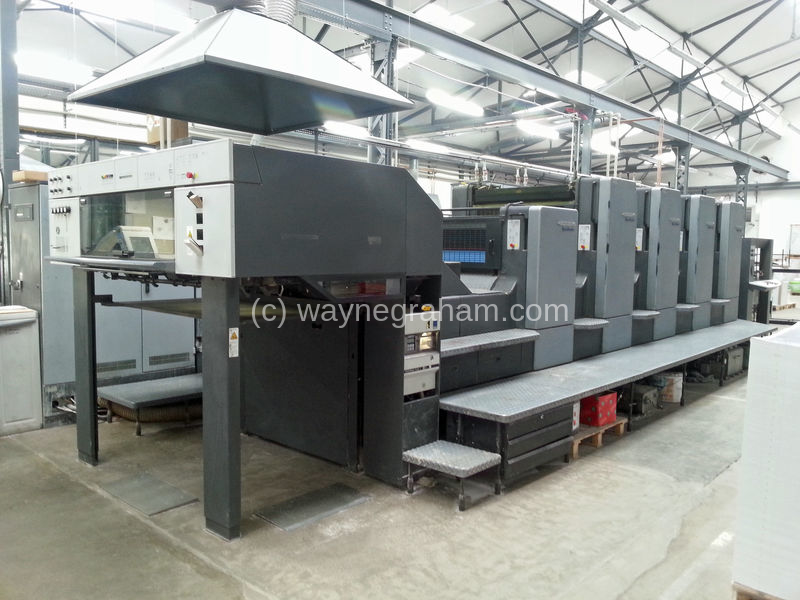 Image of Used Heidelberg SM CD 102-4-L Four Colour Printing Press With Coating Unit For Sale