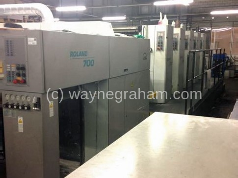 Image of Used Roland 705 3B Five Colour Printing Press For Sale
