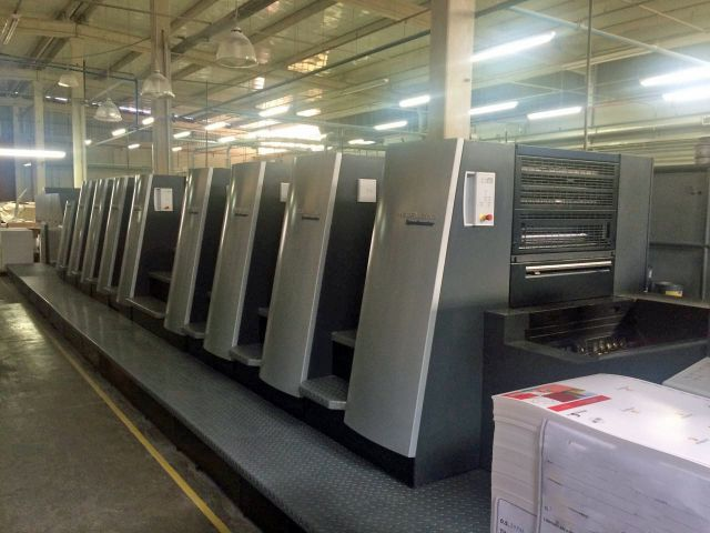 Image of Used Heidelberg Speedmaster XL 75-8-P-LX Eight Colour Printing Press With Coating Unit For Sale