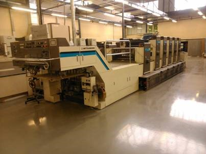 thumb Image of Used Misubishi 1G-5+L Five Colour Printing Press With Coating Unit For Sale