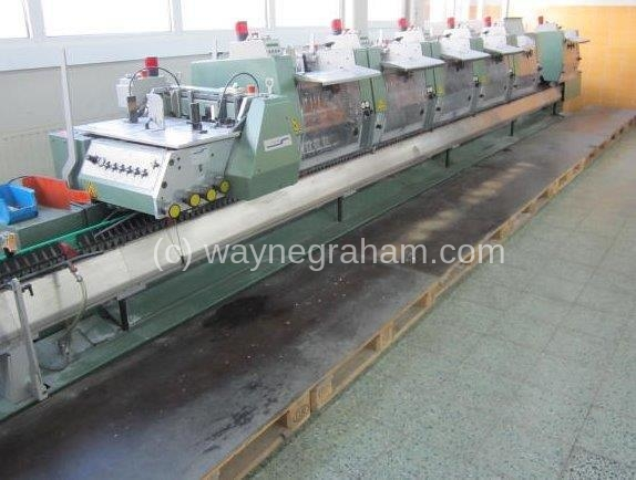 Image of Used Muller Martini Prima Amrys Gatherer Stitcher For Sale.