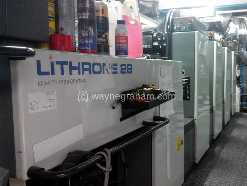 Image of Used Komori Lithrone 428 EM Four Colour Printing Press With UV Dryer For Sale