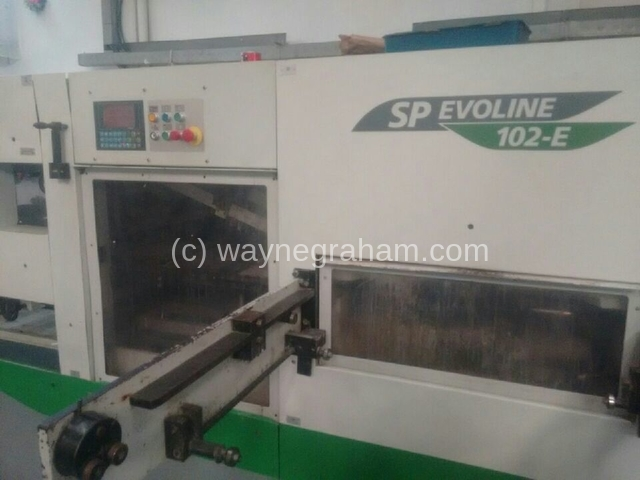 Image of Used Bobst SP Evoline 102-E Die Cutter With Stripping Unit For Sale