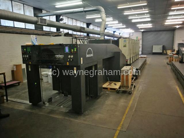 Foto von Gebrauchte Roland 505 OB LV Fünf Farbdruckmaschine mit Lackierwerk zum Verkauf
