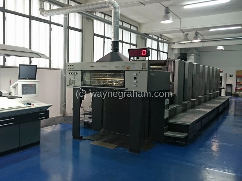 Image of Used Heidelberg Speedmaster 102-8-P Eight Colour Printing Press For Sale