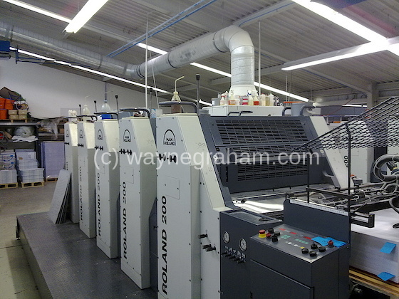 Image of Used Roland 205 HOB Five Colour Printing Press For Sale