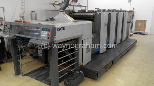 Image of Used Ryobi 924 Four Colour Printing Press For Sale