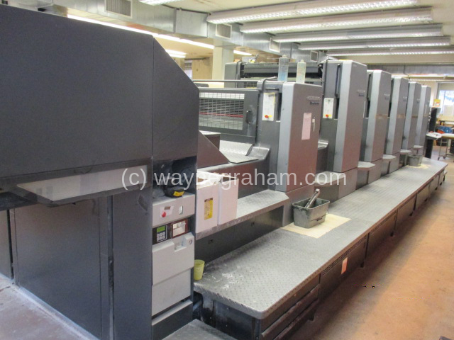 Image of Used Heidelberg Speedmaster 102-5-P-L Five Colour Printing Press With Coating Unit For Sale