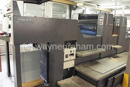 Image of Used Heidelberg Speedmaster 74-2-P-H Two Colour Printing Press For Sale