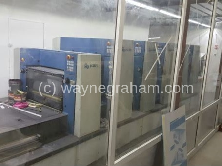 Image of Used KBA Rapida 74G 5+L CX Five Colour Printing Press With Coating Unit And Waterless Offset